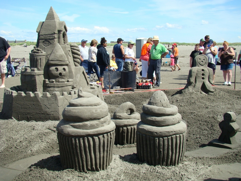Candyland depieted in the Sandcastle contest in Ocean Shores.
