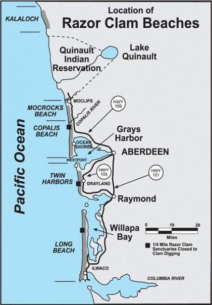 Clam Digging Map